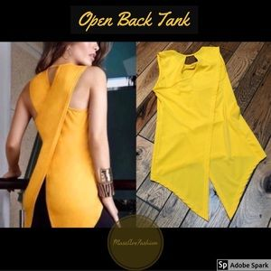 Yellow Open Back Tank